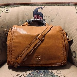 MCM Leather Tote w/ Crossbody Strap